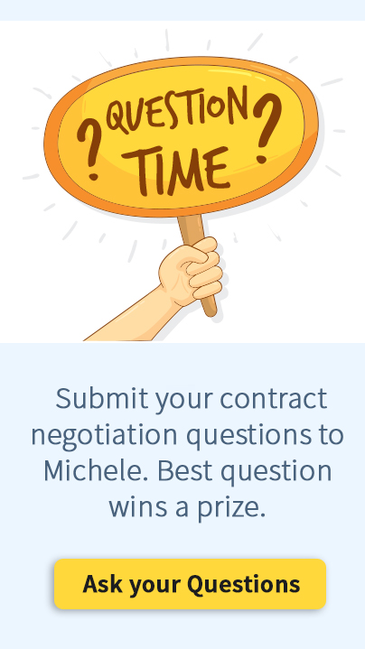 Contract Negotiation Question widget